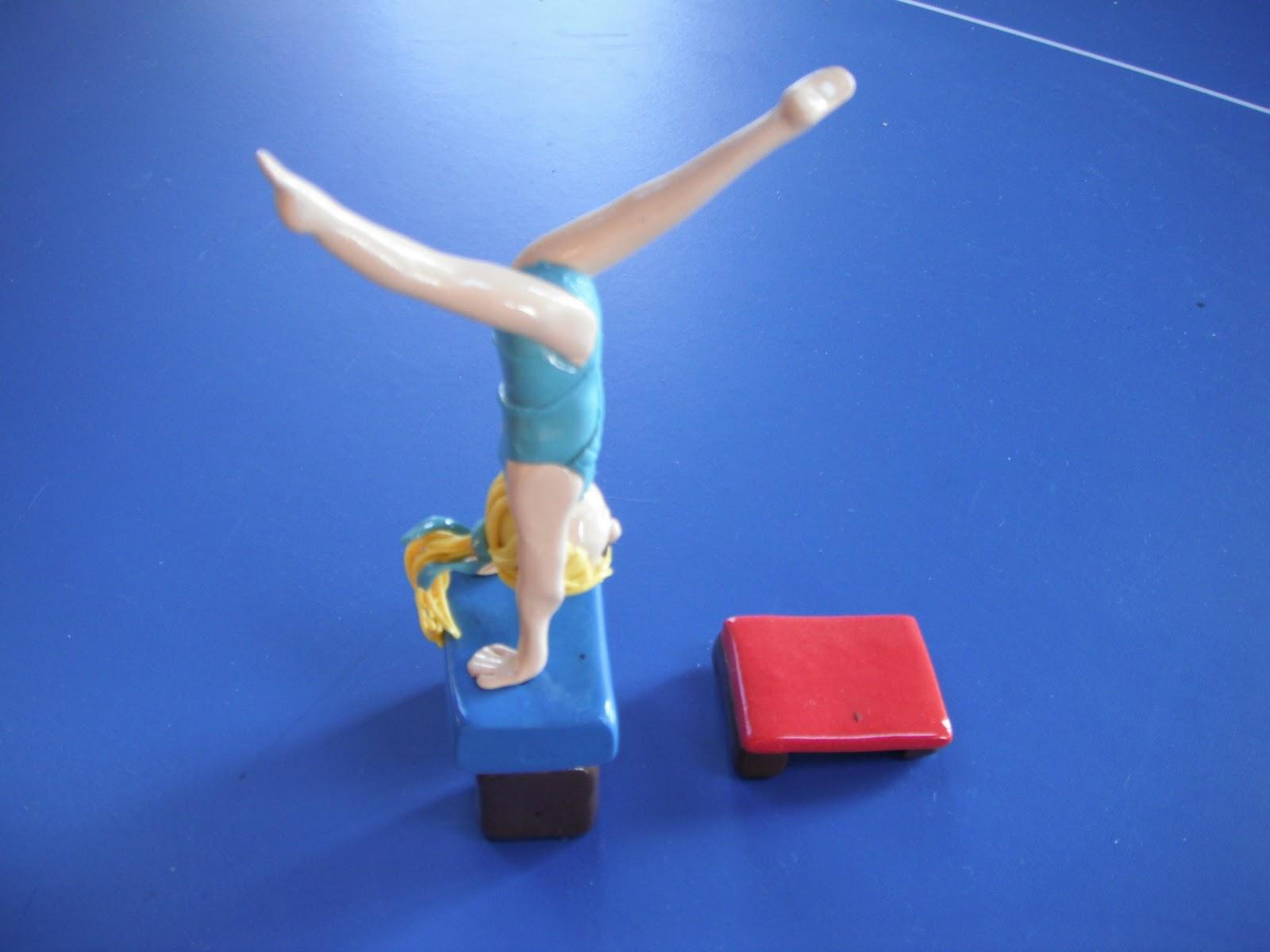 Gymnastics Cake Topper Plastic