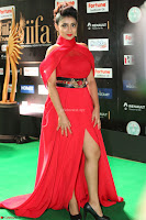 Apoorva in a Stunning Tight Leg Split Sleeveless Red Gown at IIFA Utsavam Awards 025.JPG