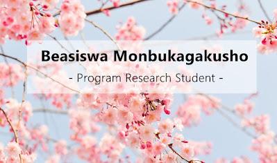 Beasiswa Monbukagakusho Program Research Students Jalur University Recommendation (U to U)