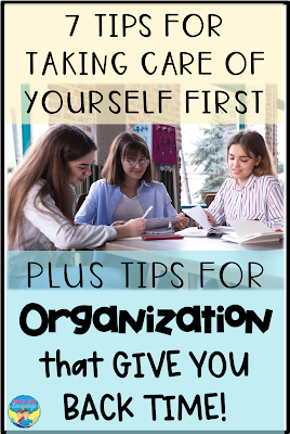 Tips for taking care of yourself & organizing to help make speech therapy amazing!