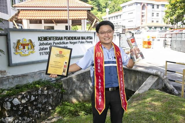 McDonald's Malaysia, Anugerah Guru Inspirasi 2021 Winners, Cikgu Ong Soon Yeong, SJKC Pulau Betong, Pulau Pinang, Guru Inspirasi Malaysia, Lifestyle