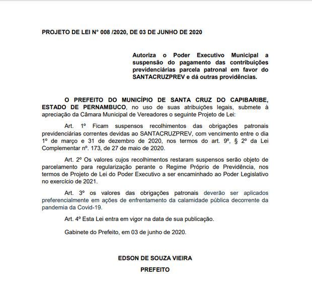 Vereadores de oposição ajudarão aprovar projeto que prejudica servidores de Santa Cruz em troca de vantagens?