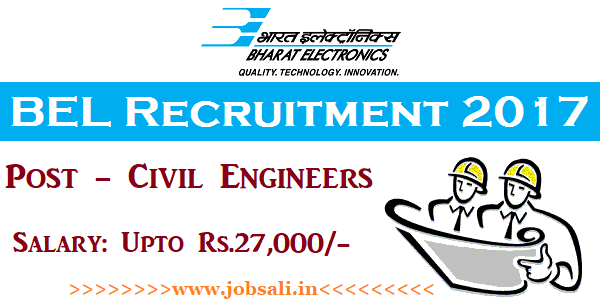 BEL Careers, BEL Civil Engineer Vacancy, BEL Vacancy