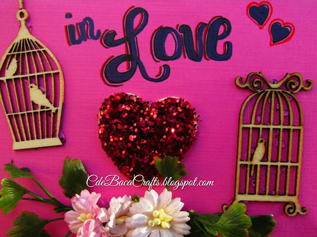 Valentines Day Card example on CdeBaca Crafts Gallery blog.