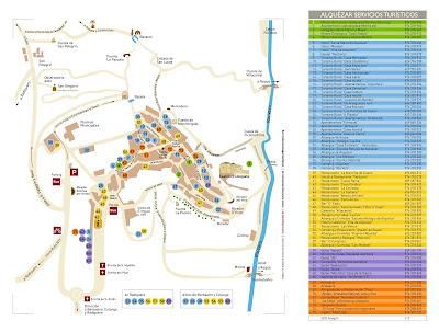 Mapa de Alquezar, Huesca