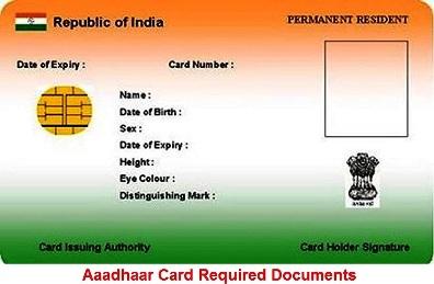 Aadhaar Card Required Documents