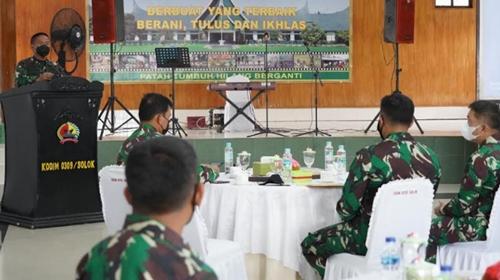 Pangdam I/BB Beri Arahan Prajurit Kodim 0309/Solok