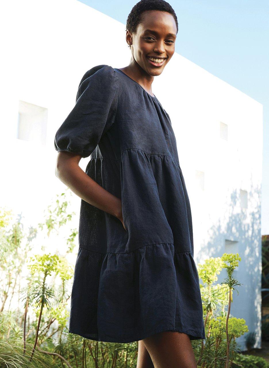 my midlife fashion, Baukjen Lucy hemp dress