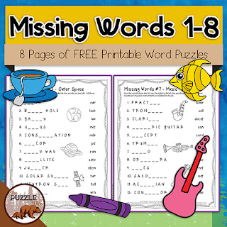 The Puzzle Den - Missing Words 1-8