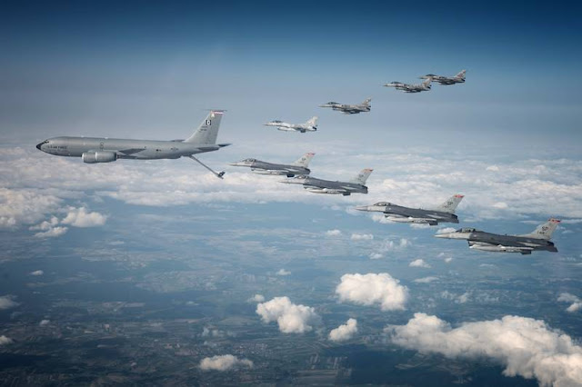 USAF fighter aircraft take part in major exercises around Europe