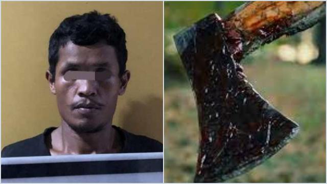 Emosi Diejek Bocah, Pekerja Sawit di Riau Penggal Kepala Si Bocah Pakai Kampak