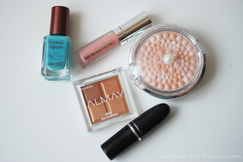 bbloggers, bbloggerca, beauty blog, april, favorites, beauty, 2018, barry m, coconut infusion, nail paint, polish, scuba, buxom, white russian, lip creme, gloss, physicians formula, mineral glow, pearls, translucent, mac, velvet teddy, lipstick, almay, shadow squad, pure gold baby