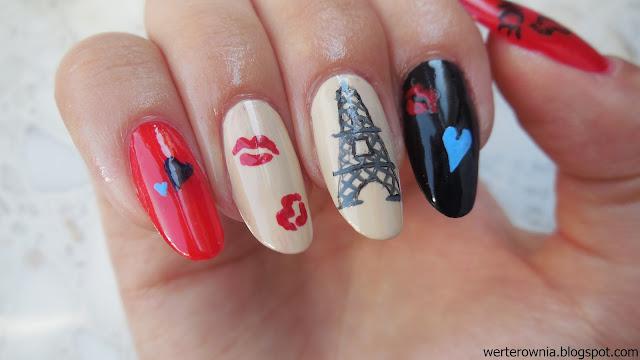 Beżowe francuskie paznokcie
