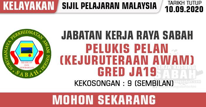 Jawatan Kosong Kerajaan Negeri Sabah 2020 | Pelukis Pelan ...