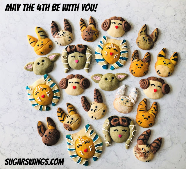 Ahsoka Tano Princess Leia Hera Syndulla Baby Yoda and Loth-cat cookies