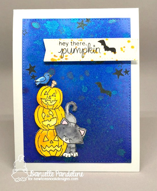 Halloween cat card by Danielle Pandeline | Newton's Boo-tiful Night Stamp set by Newton's Nook Designs #newtonsnook #halloween