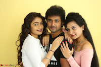 Kiran Chetwani with Janani Iyyer and others at Lakshmi Devi Samarpinchu Nede Chudandi Movie Interview 016.JPG