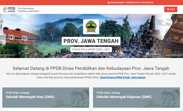 Cara Pendaftaran PPDB Online - ppdb.jatengprov.go.id