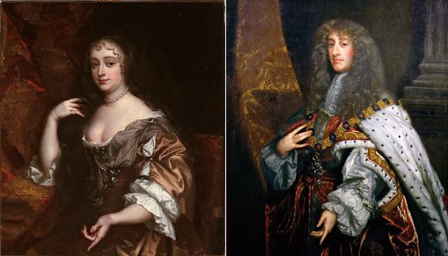 Anna Hyde e seu marido, mais tarde coroado como Jacob II