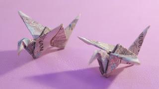 hướng dẫn cách xếp con chim bằng tiền giấy how to make fold dollar money origami bird easy tutorials