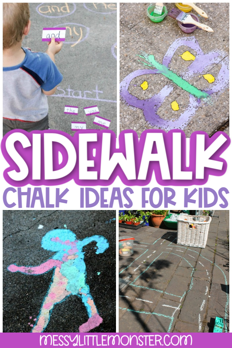 sidewalk chalk ideas for kids