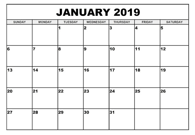 January 2019 Excel
