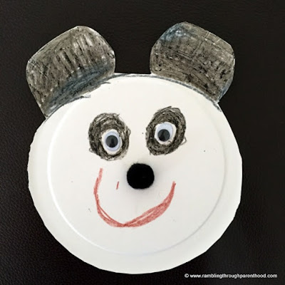 Easy Paper Plate Panda is ready for playtime