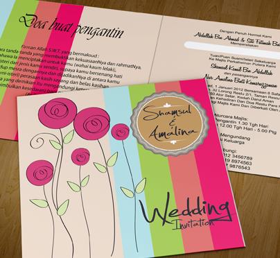 Gudang Kad Kahwin Bagaimana Design Bahagian Dalam Kad Kahwin