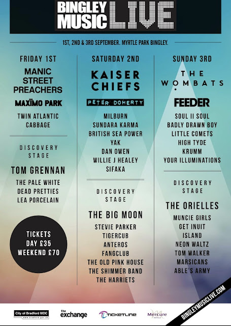 Bingley Music Live Festival 2017 line up