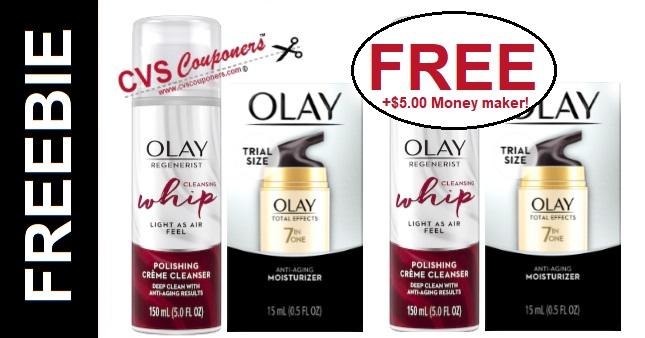 FREE Olay Moisturizer & Whip Cleanser at CVS - 5/5-5/11