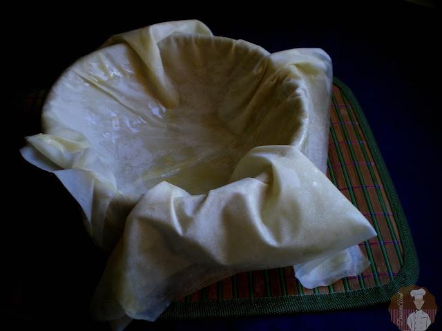 Sultan kebabı: Masa filo para envolver el relleno