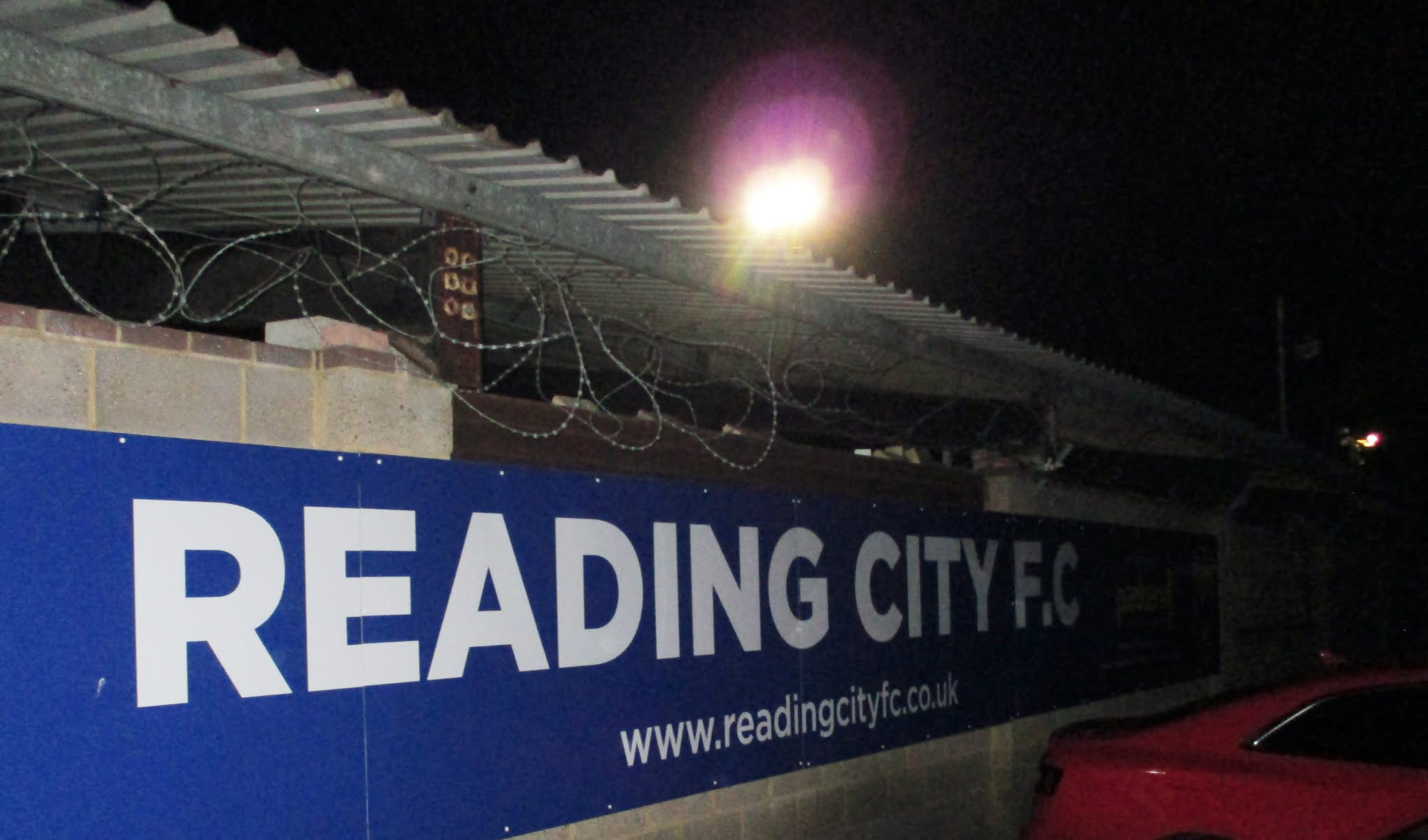 Exterior of The Rivermoor Stadium in Reading