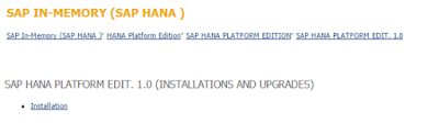 SAP HANA SP11, Certifications and Material