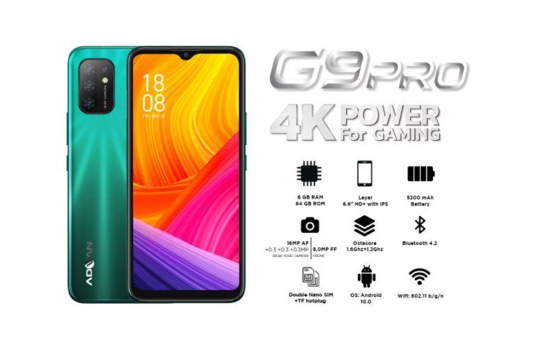 Harga dan Spesifikasi Advan G9 Pro RAM 6GB ROM 64GB Terbaru di Indonesia