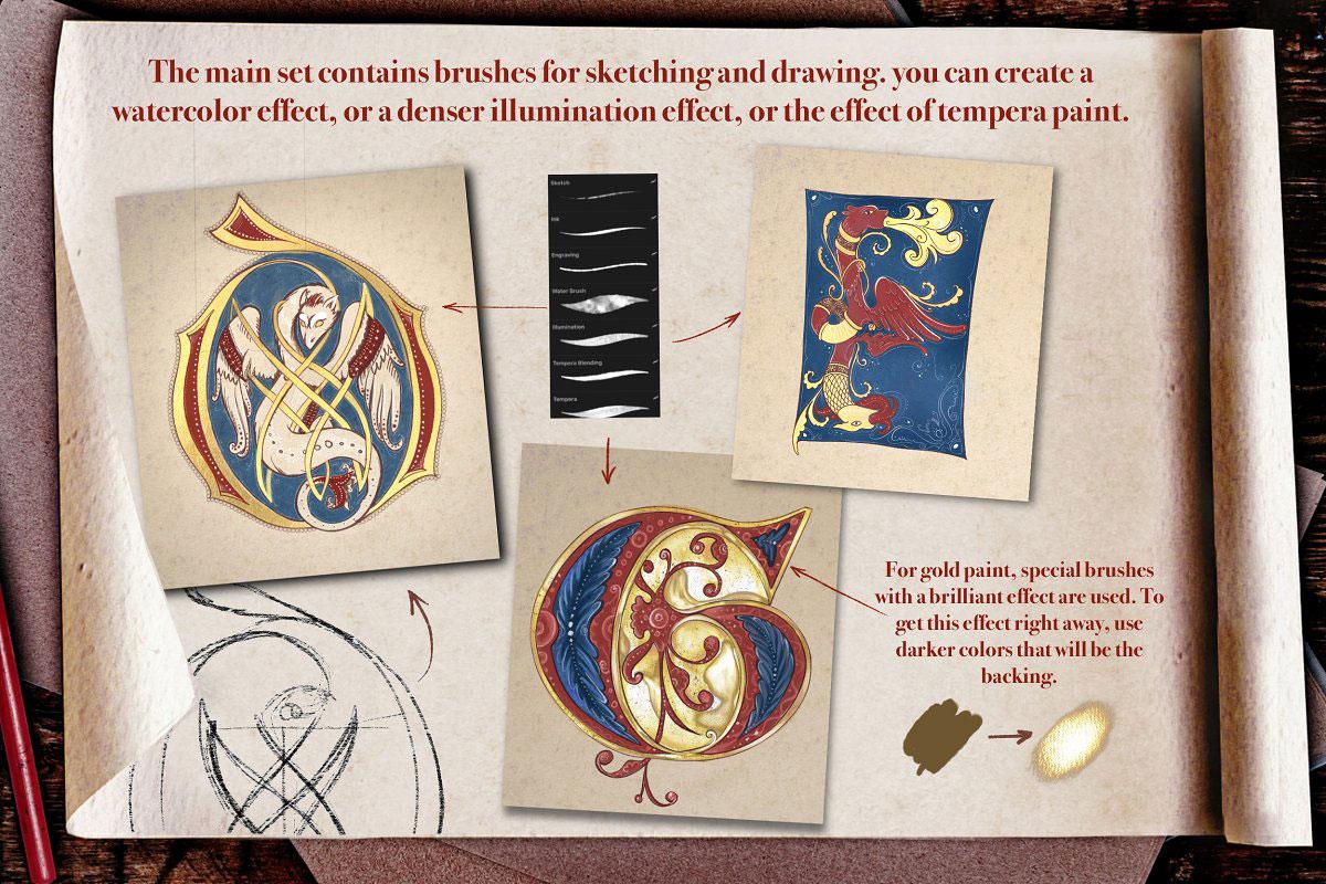 Medieval Manuscript Creator Kit 4674206 b