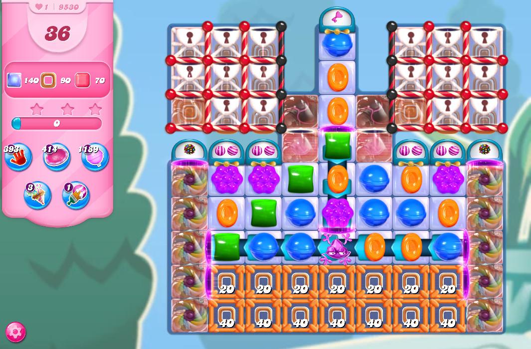 Candy Crush Saga level 9530