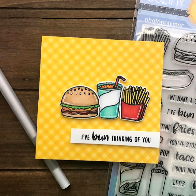 Sunny Studio Stamps: Fast Food Fun Customer Card by Ashley Harris