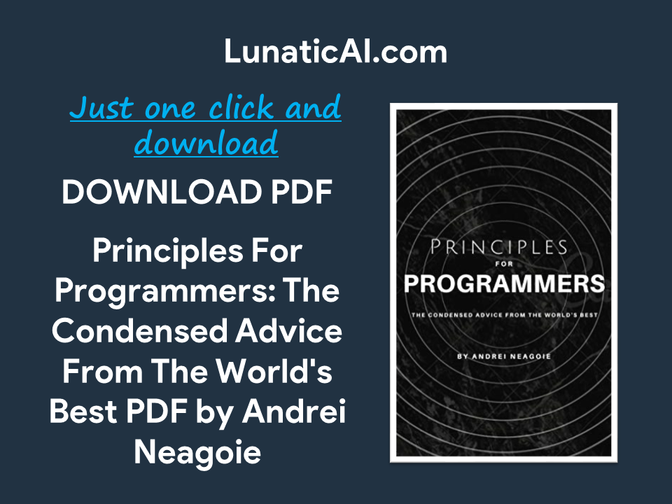 principles for programmers book by andrei neagoie github