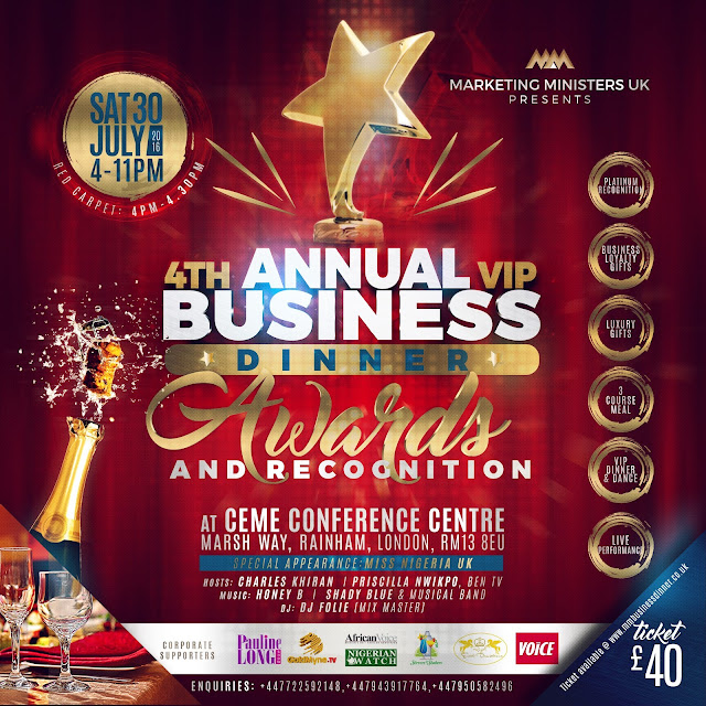 Marketing Ministers UK Dinner and Business Recognitions 2016