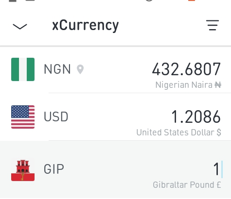 Gibraltar pound exchange rates
