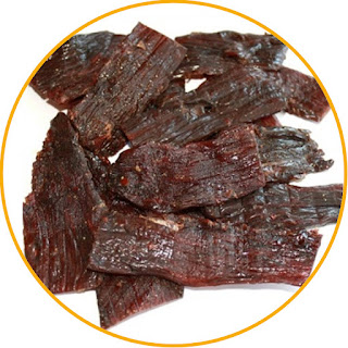 Processing Thinly sliced jerky Meat is cleaned and then sliced wide and thin Spices are mashed and mixed until blended with the sliced meat. Arrange the seasoned meat on top of the nyiru and dry in the sun to dry. Drying can also use an oven. Once dry, packaged and labeled Jerky Jerky needs to be fried or steamed first when it is to be eaten.