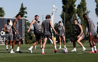 Último entrenamiento en la Capital de España con la mirada en la Champions