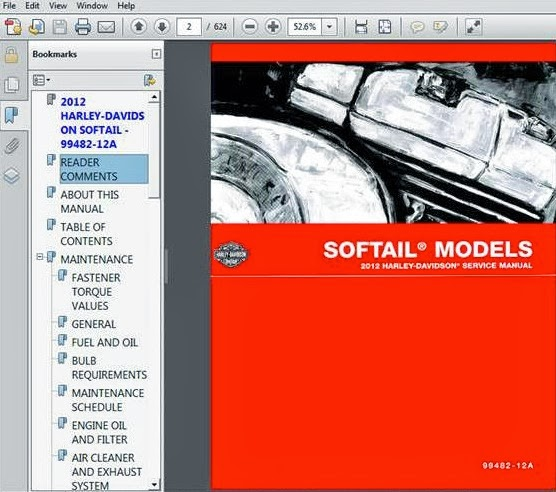 Harley Repair Manual Sportster Dyna Touring Softail border=