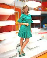 Sónia Araújo mostra as pernas em vestido