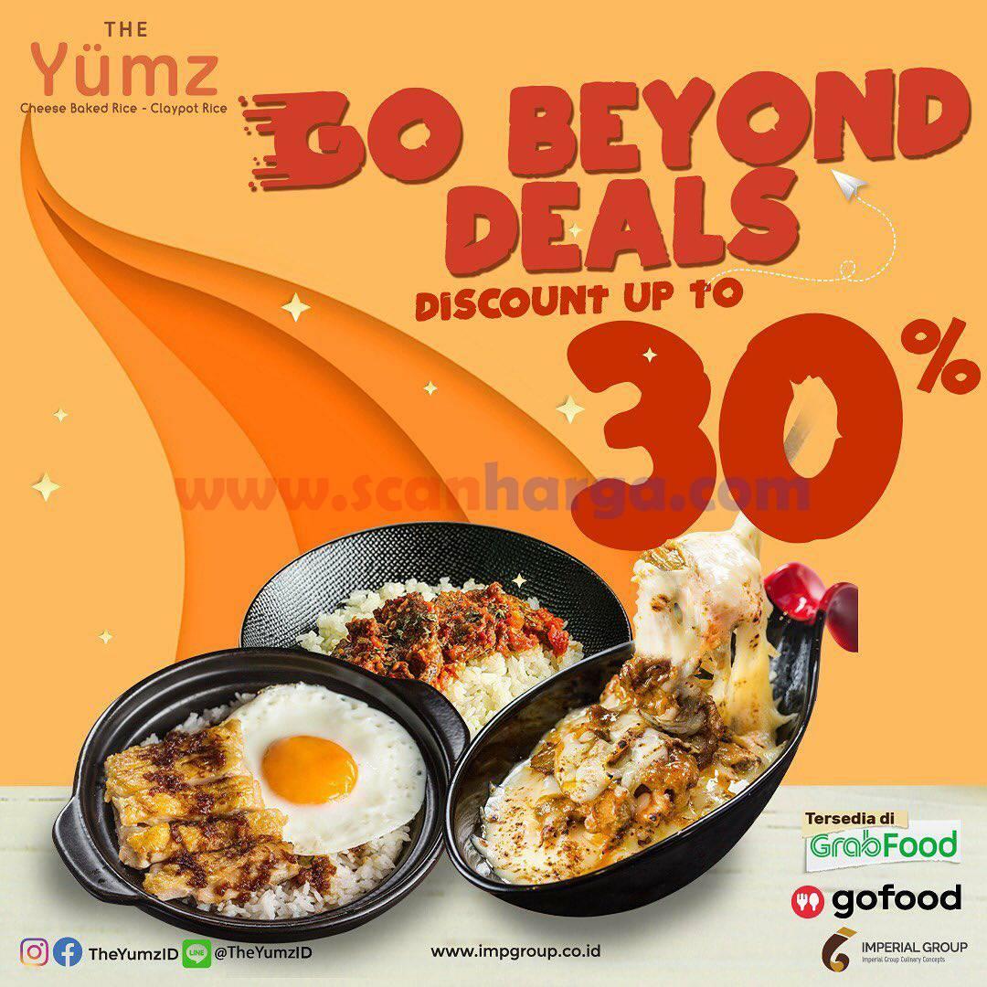 THE YUMZ Promo Go Beyond Deals – DISKON sd 30% via GOFOOD & GRABFOOD