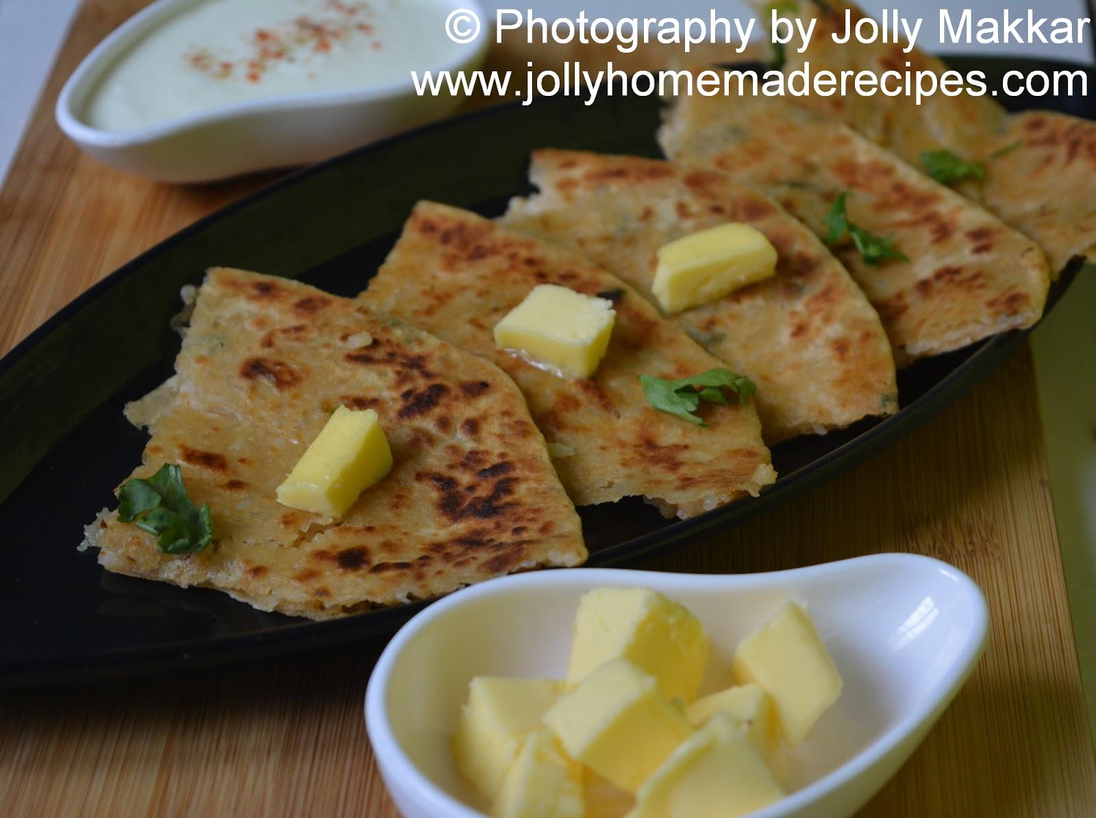 rice paratha recipe