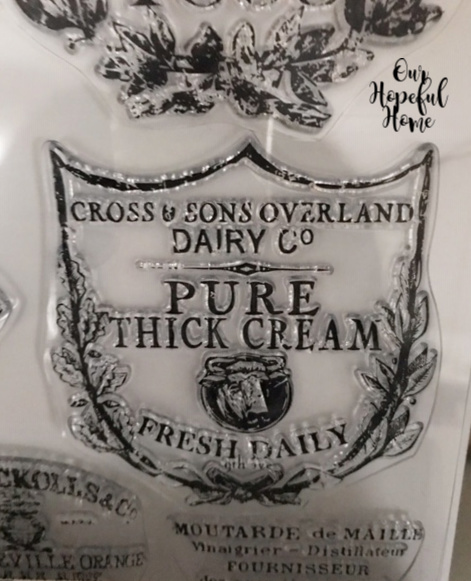 Pure Thick Cream Fresh Daily clear stamp