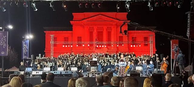 Η Μεικτή Δημοτική Χορωδία ΔΟΠΠΑΤ Ναυπλίου στην εκδήλωση για τον Αρχάγγελο της Ρωμιοσύνης