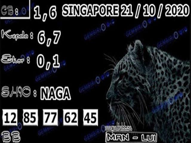 Kode syair Singapore Rabu 21 Oktober 2020 165