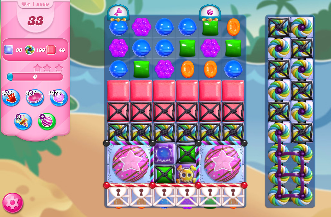 Candy Crush Saga level 8989